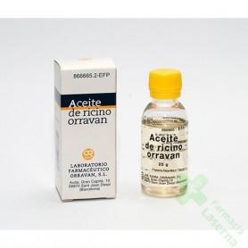 ACEITE RICINO ORRAVAN 1G/ML LIQUIDO ORAL, 1 FRASCO DE 25 ML